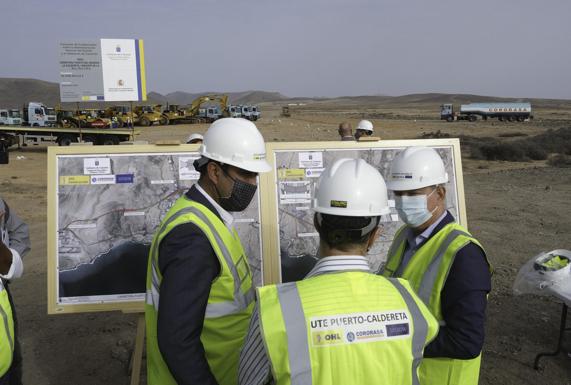 Obras Públicas pone en marcha las obras del nuevo tramo del Eje Norte-Sur de Fuerteventura