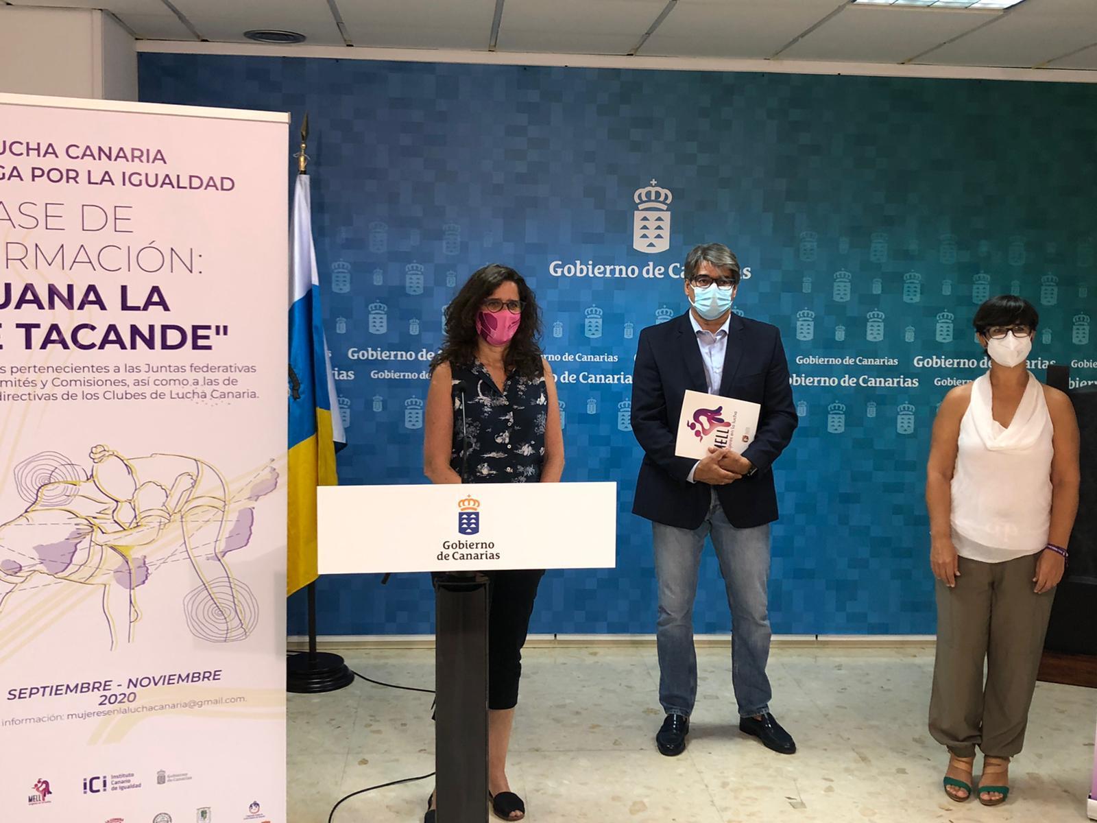 El ICI y la Federación de Lucha Canaria impulsan un proyecto para incorporar la perspectiva de género