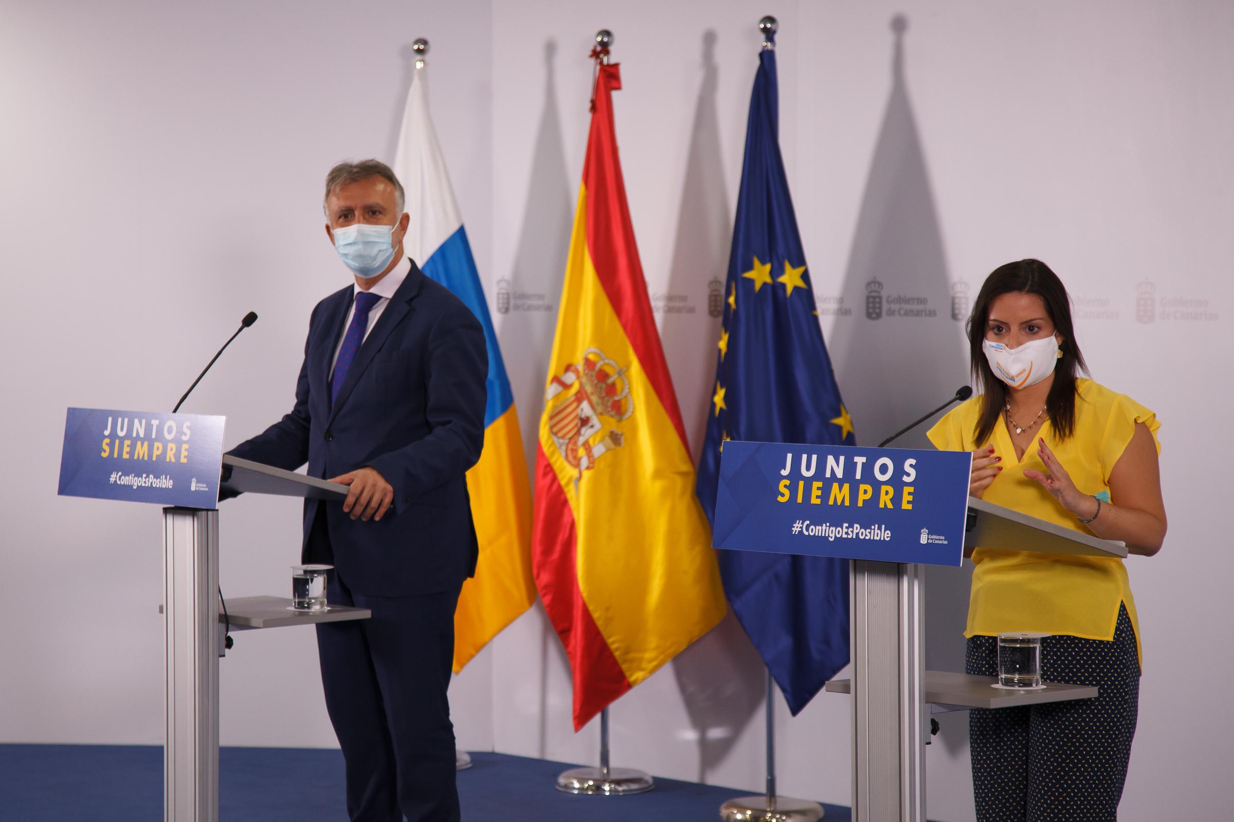 El Gobierno de Canarias acuerda con TUI avanzar en corredores seguros con el testeo selectivo a los turistas