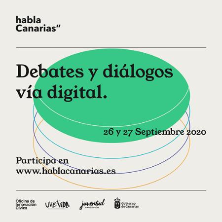 'Habla Canarias', un nuevo espacio digital para conectar proyectos liderados por la juventud canaria