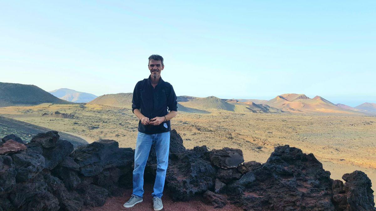 El director del Parque Nacional de Timanfaya, Pascal Gil