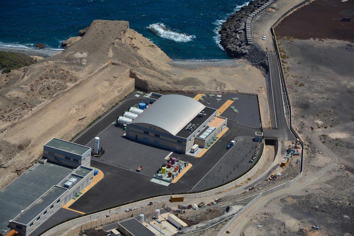 Imagen de potabilizadora en Canarias