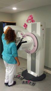 Mamógrafo digital.