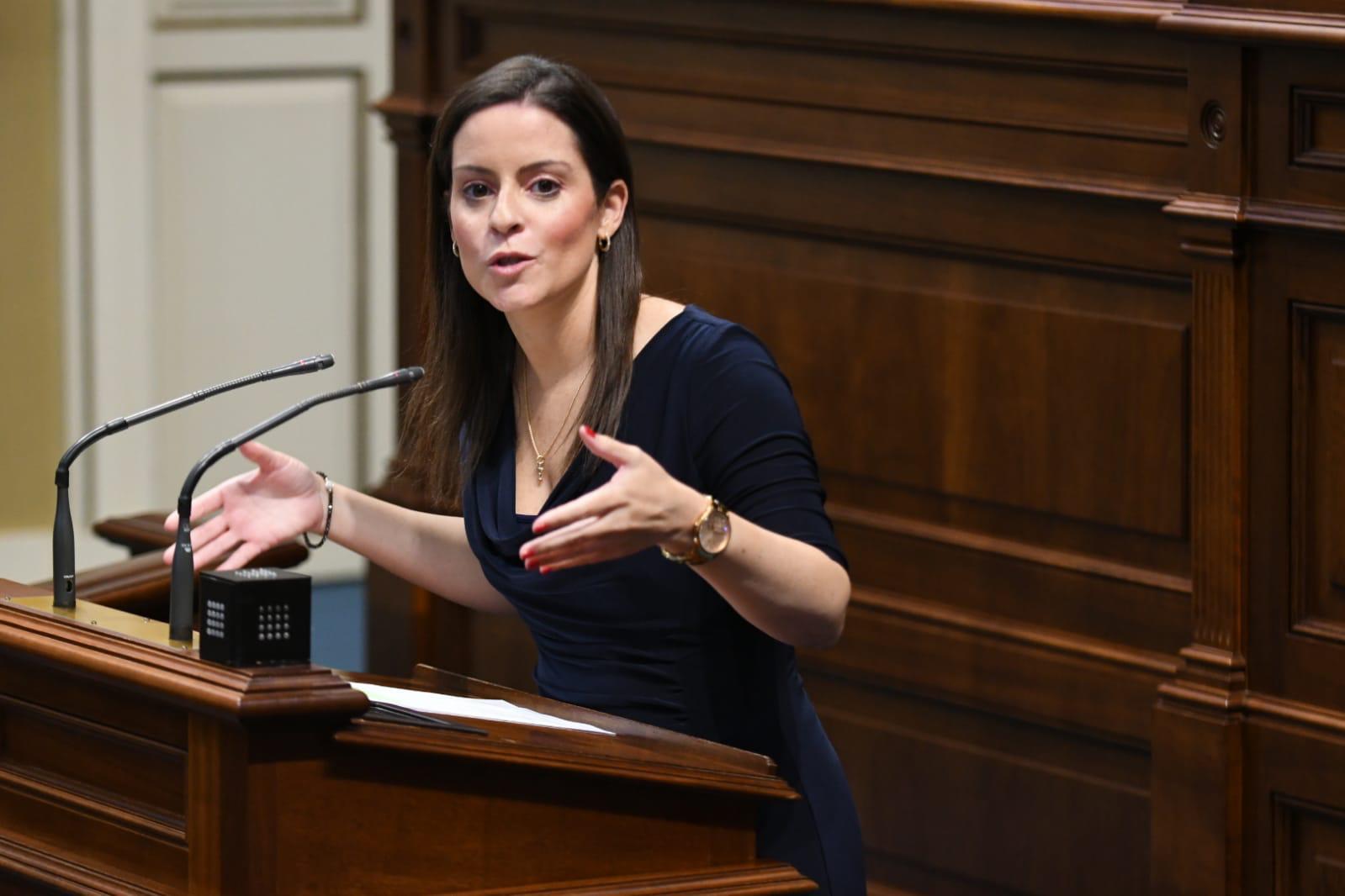 Yaiza Castilla en el pleno.