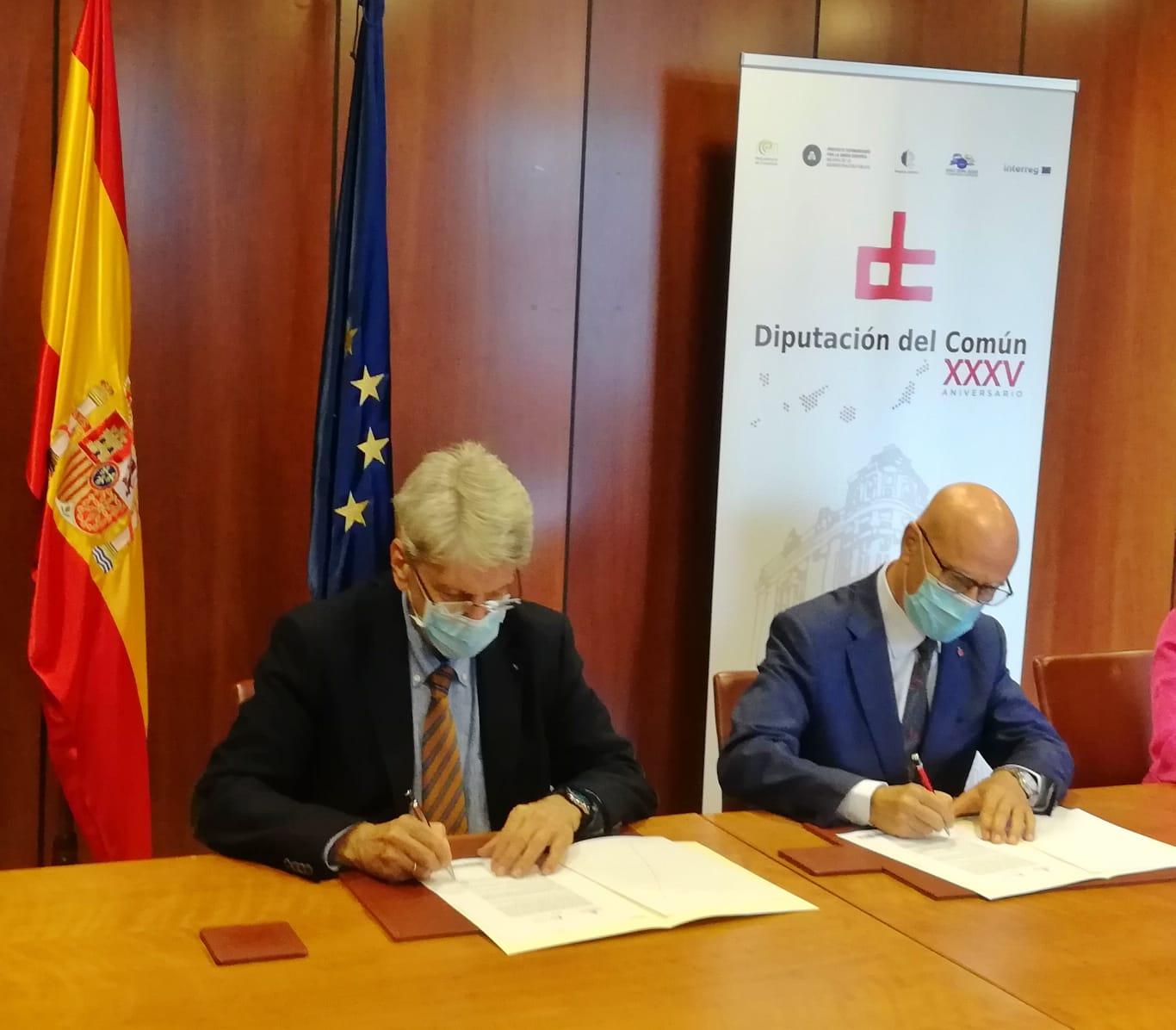 Gobierno y Diputación del Común firman un acuerdo contra la Violencia de Género