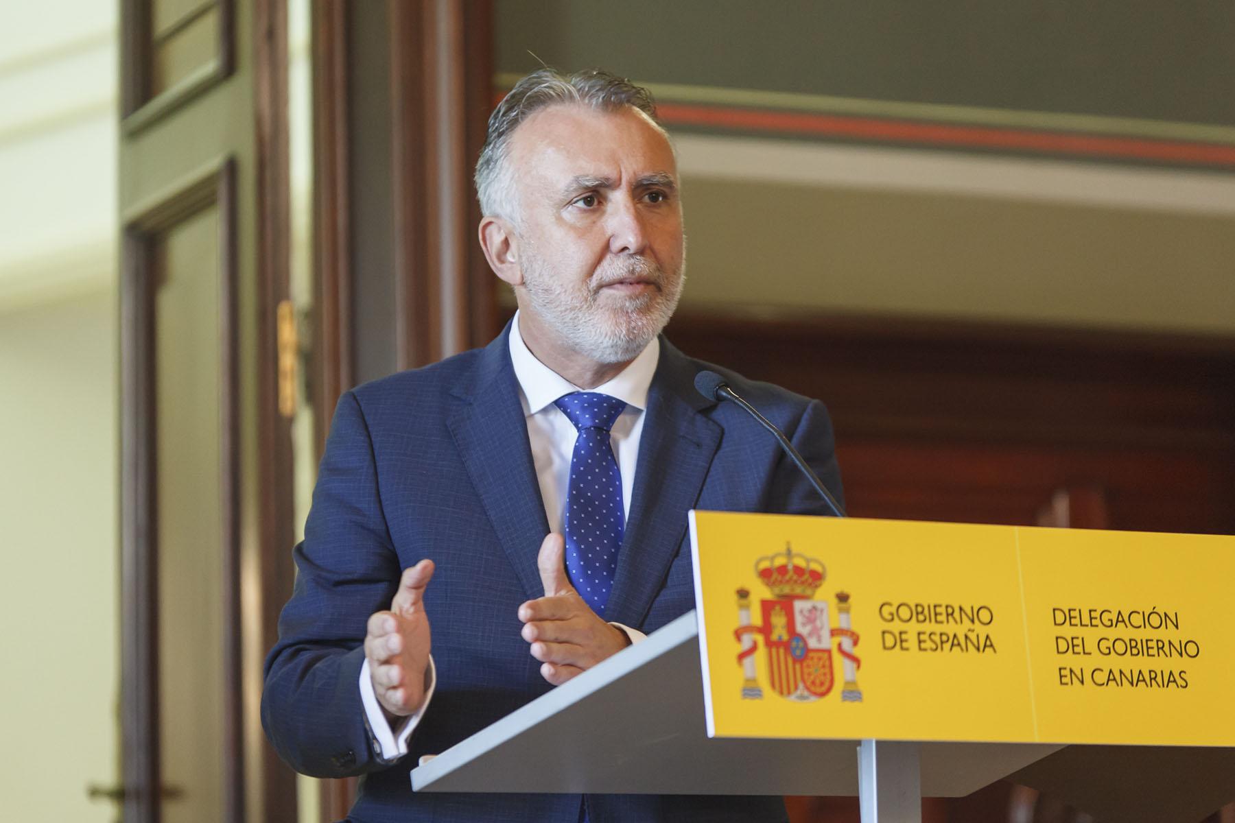 Ángel Víctor Torres - migraciones - rueda de prensa