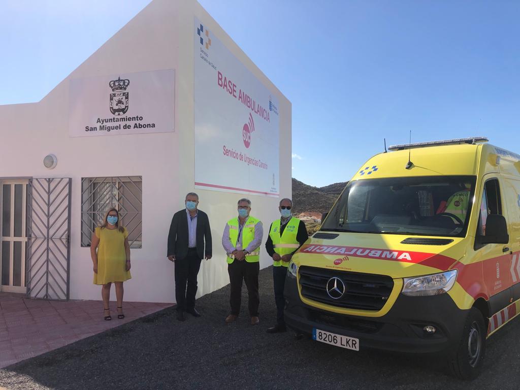 Sanidad refuerza la asistencia sanitaria en el sur de Tenerife con una nueva ambulancia en San Miguel de Abona