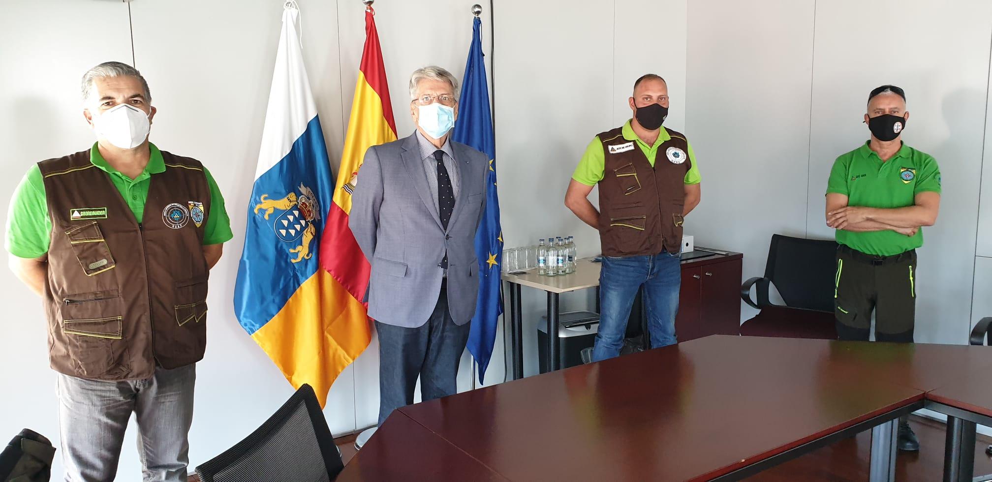 Julio Pérez se reúne con GEBE Canarias