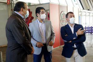 Blas Trujillo, Pedro Martín y José Manuel Bermúdez en el Recinto Ferial de Tenerife.
