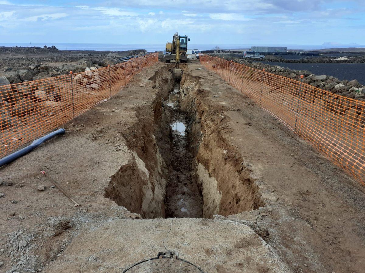 Obras de saneamiento y depuración de aguas de Tinajo