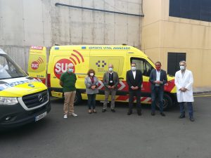 Presentación ambulancias SUC en Fuerteventura