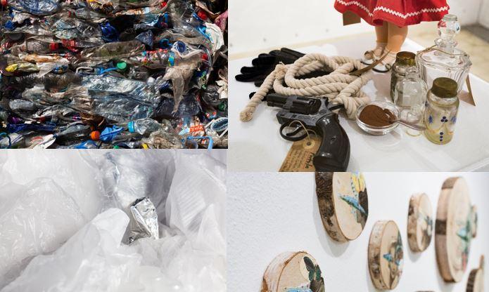 Algunas de las obras que se exhiben en las muestras