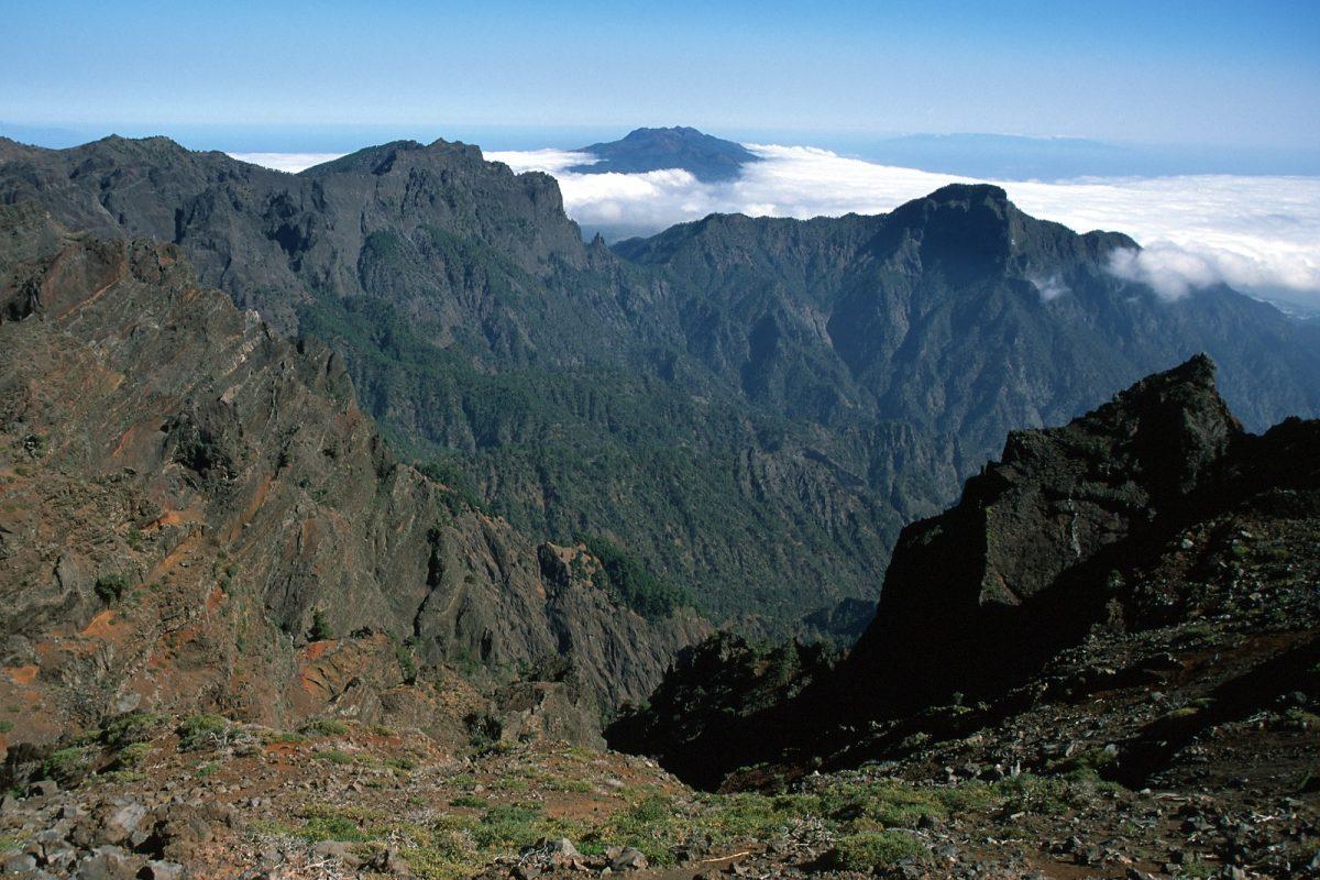Paisaje montañoso de Canarias