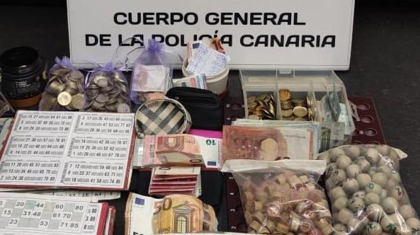 Material incautado el 19 de enero de 2021 en Las Palmas de Gran Canaria