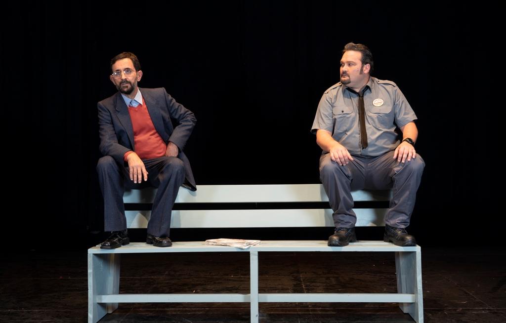 Escena de la obra con Miguel Ángel Batista y Juan Carlos Tacoronte