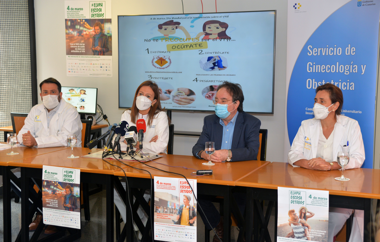 El Materno Infantil se suma al Día Internacional de la Concienciación de la Infección del VPH