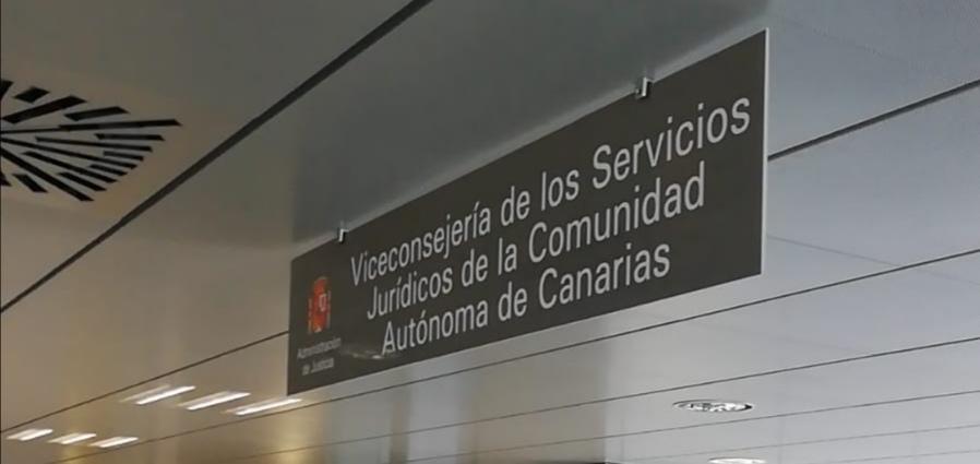 Interior de la sede de los Servicios Jurídicos del Gobierno de Canarias