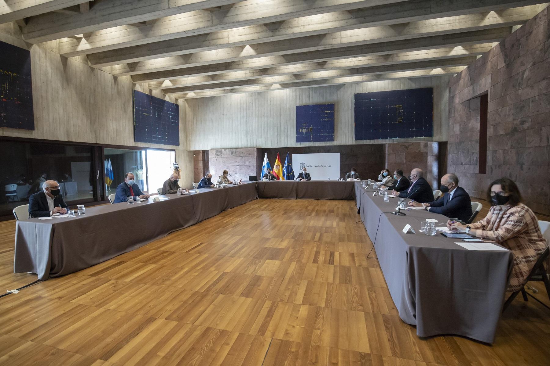 Reunión de la comisión de seguimiento del Plan Reactiva Canarias celebrada el 22 de febrero pasado