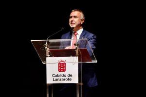 Ángel Víctor Torres en la presentación de la Estrategia de Sostenibilidad Turística en Destino