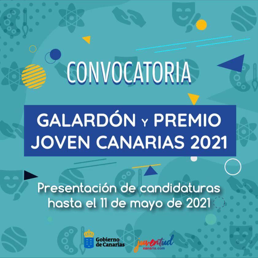 """El Gobierno abre el plazo para la presentación de candidaturas al """"Galardón y Premios Joven Canarias 2021"""""""