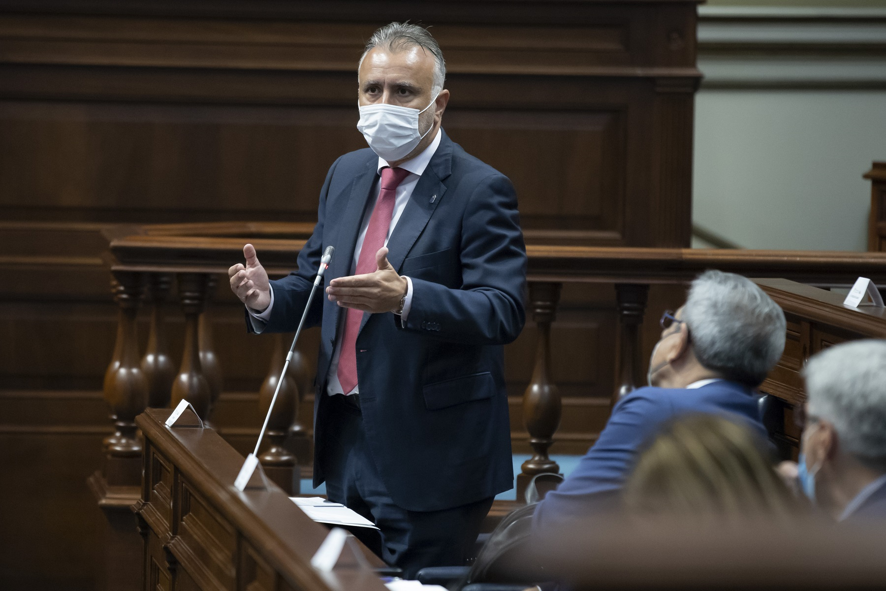Ángel Víctor Torres hoy en el Parlamento