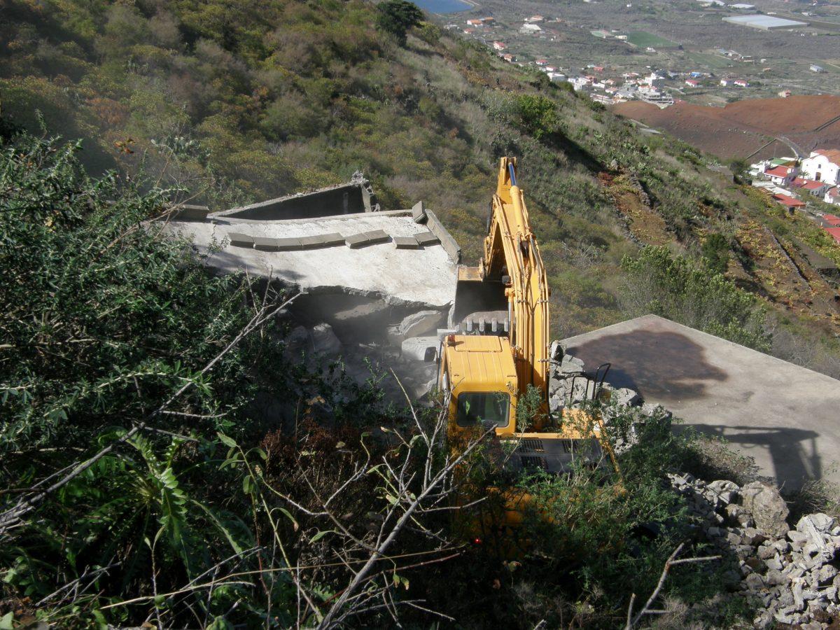 Imagen de una demolición