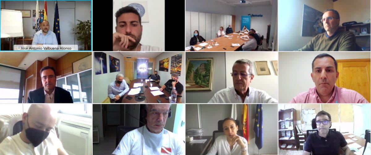 Momento del encuentro digital de la Mesa Eléctrica