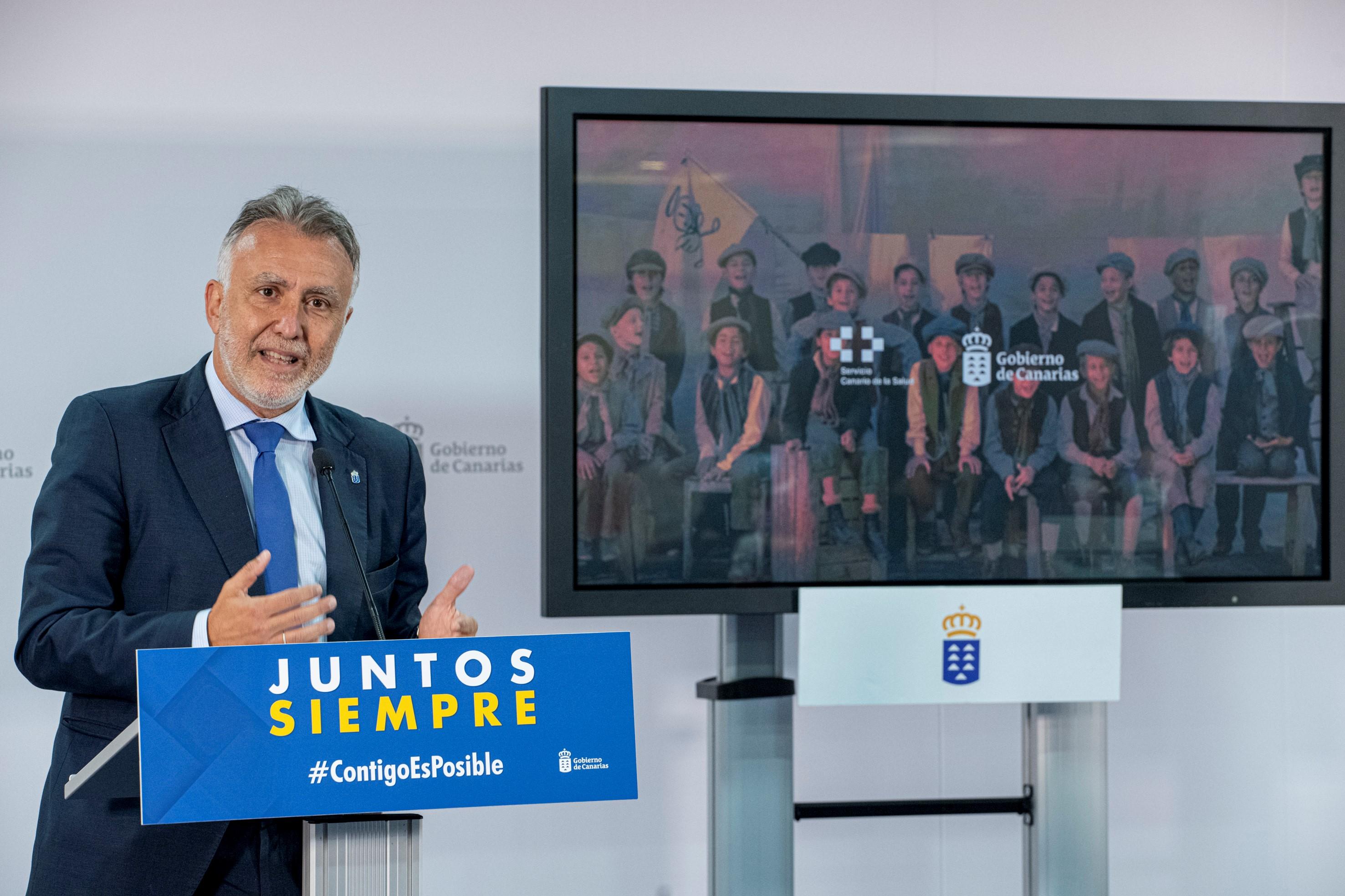 El Gobierno presenta la campaña 'Vacúnate' de impulso a la inmunización contra la COVID-19 en Canarias