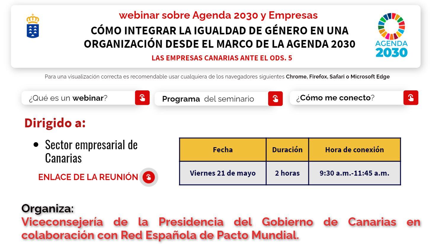 Agenda Canaria de Desarrollo Sostenible