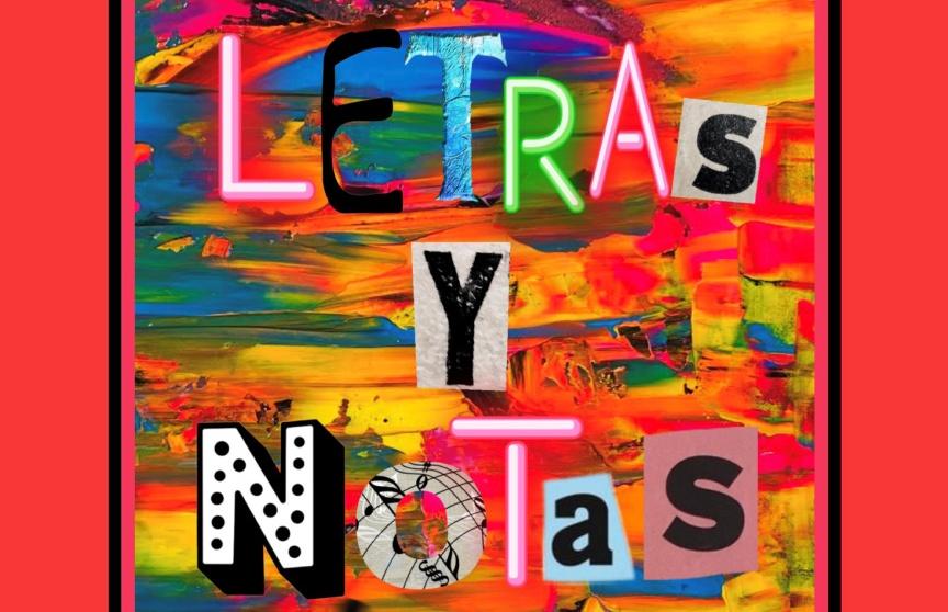 'Letras y notas pintadas'