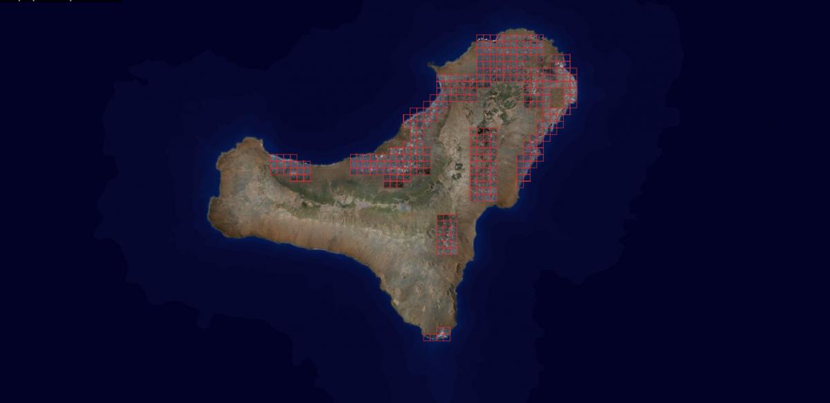 Ortofoto de la isla de El Hierro