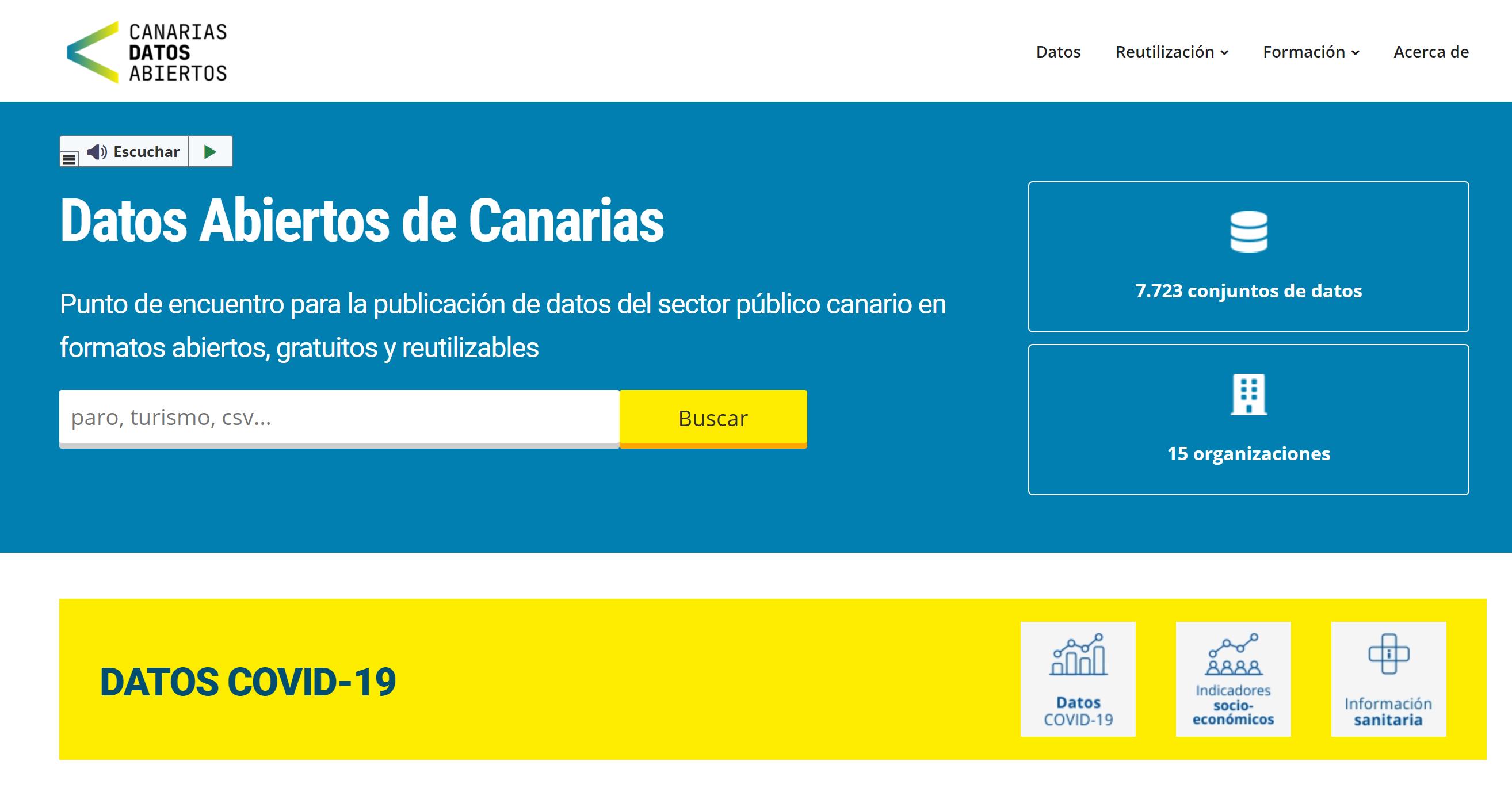 Portal Datos Abiertos de Canarias