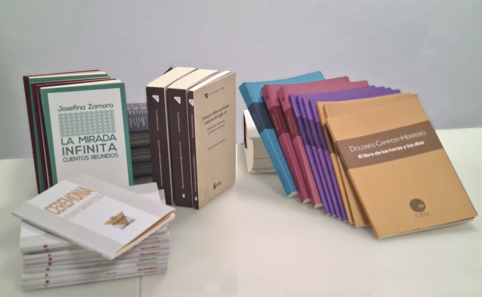 Varias de las colecciones literarias del Gobierno de Canarias