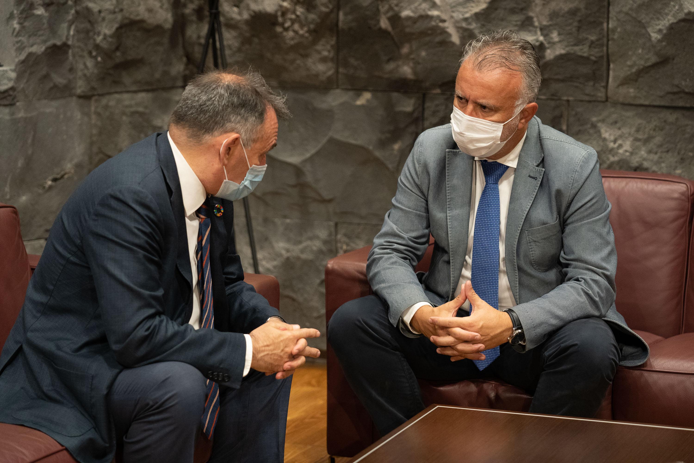 El presidente de Canarias se reúne con el secretario de Estado para la Agenda 2030
