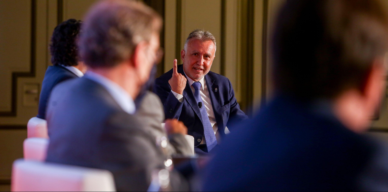 Ángel Víctor Torres durante su intervención en las I Jornadas Fondos Europeos para la recuperación Next Generation