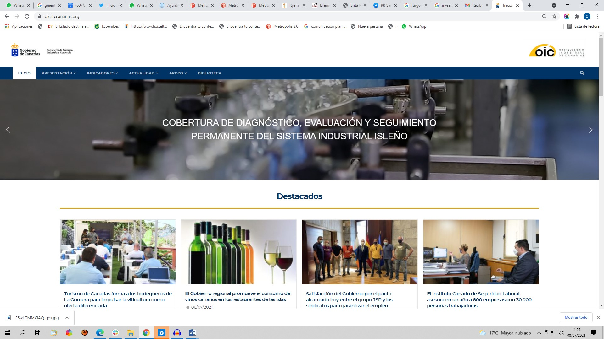 Nueva web OIC.