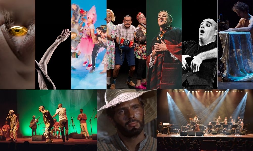 Imagen de varios de los espectáculos programados para septiembre 2021 en el Guiniguada