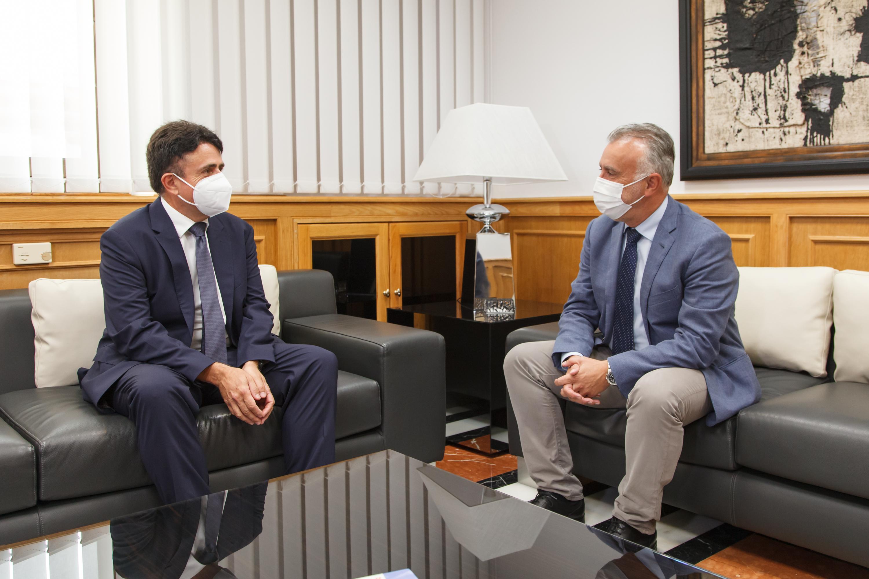 Ángel Víctor Torres y Juan Luis Lorenzo Bragado mantienen un encuentro oficial previo al inicio del año judicial