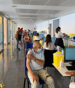 Vacunación en el Hospital del Sur